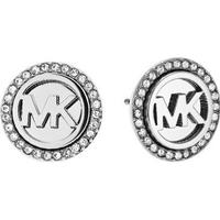Michael Kors Logo Stainless Steel Earrings w. Transparent Cubic Zirconium (MKJ4516040)