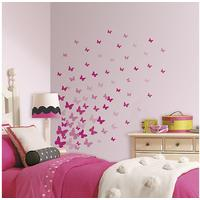 RoomMates Pink Flutter Butterfly Wall Decals