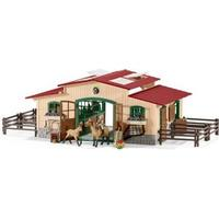 Schleich Bondegårdsdyr Stable with Horses + Accessorie 42195