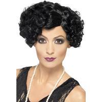 20s Flirty Flapper Peruk Svart, Snygg peruk som du kan ha när du klär ut dig till en flirtig kvinna från 20-talet.