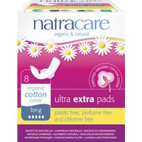 Natracare Ultra Extra Pads Long 8-pack