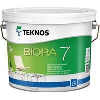 Teknos Biora 7 Väggfärg Vit 2.7L