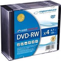 Esperanza DVD-RW 4.7GB 4x Slimcase 10-Pack