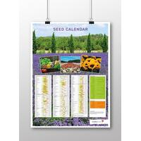 Aussaatkalender-Poster Englisch