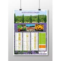 Aussaatkalender-Poster Deutsch