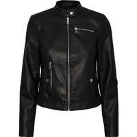 Vero Moda Leather Look Jacket - Black/Black Beauty (10179244)