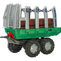 Rolly Toys Timber Trailer Green & 5 Logs