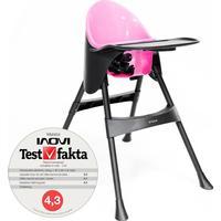 Inovi Matstol med matbricka, från Elite. Black-Pink.
