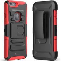 Prime dual layer holster skal med kick stand till apple iphone 6