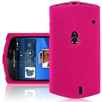 Xperia neo silikon skal hot rosa sony ericsson