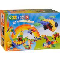 Clics Toys Stor Byggesæt med 20 Motiver og 100dele