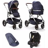 Baby Elegance Cupla Duo Single Travel System - Navy