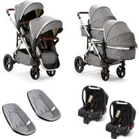 Baby Elegance Cupla Duo Twin Travel System - Grey