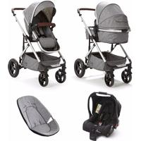 Baby Elegance Cupla Duo Single Travel System - Grey