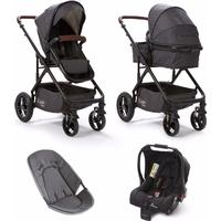 Baby Elegance Cupla Duo Single Travel System - Black