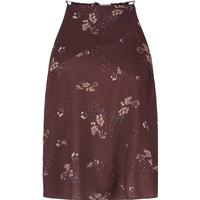Y.A.S Floral Sleeveless Top Brown/Decadent Chocolate (26009389)