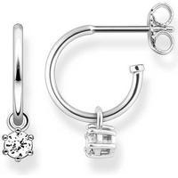Thomas Sabo Hinged Silver Earrings w. White Cubic Zirconium - 1cm (CR598-051-14)