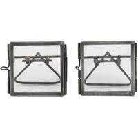 Nkuku Tiny Danta Antique Zinc Photo Frame Set of Two 5x5cm - Matte Grey