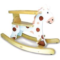 Vilac My First White Rocking Horse & Removable Hoop
