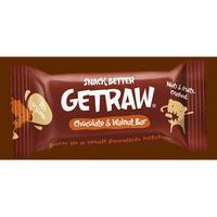 Getraw Chocolate & Walnut Bar, 42g ekologisk