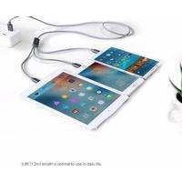 3 i 1 laddningskabel (usb) iphone/samsung/huawei/xiaomi grå