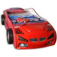 Megaleg Twin Racing Bilseng med Gæsteseng LED Lys og Lydpakke