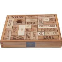 Wooden Story Peace & Love Blocks 29pcs