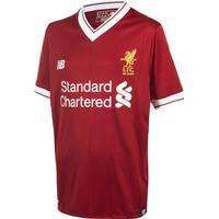 New Balance Liverpool FC Home SS 17/18, fotbollströja junior Röd 128-134