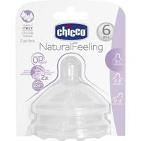 Chicco Natural Feeling Teat Fast Flow 6m+ 2pcs
