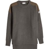 Moncler Wool Pullover with Cashmere