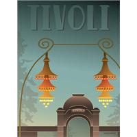 Vissevasse Tivoli Indgangen 30x40cm Plakater