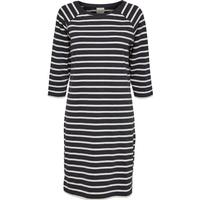 Selected Striped Long Sleeved Dress Blue/Dark Sapphire