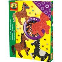 Perleplade hest, med 1200 perler - SES Creative