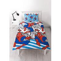 Character World Spider-Man Ultimate Spiderman 'Popart' Single Duvet Set bäddset