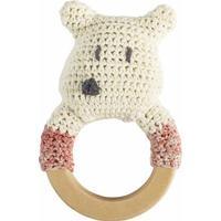 Sebra Crochet Rattle Polarbear on Ring
