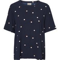 Vero Moda Dotted Short Sleeved Top Blue/Navy Blazer (10179840)