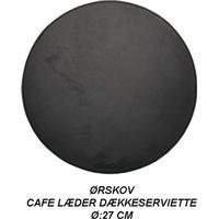 Ørskov - CAFE LÆDER DÆKKESERVIET Ø:27 CM - RUND - SORT - SORT SYNING