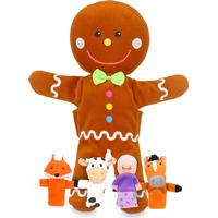 Fiestacrafts Gingerbread Hand & Finger Puppet Set