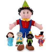 Fiestacrafts Pinocchio Hand & Finger Puppet Set