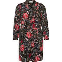 Junarose Flowered Dress Black/Black Beauty (21006626)