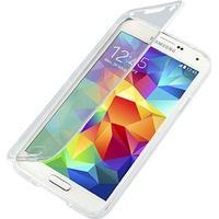 Samsung Galaxy S5, Galaxy S5 Neo Matte TPU Flip Taske - Gennemsigtig