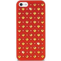 PURO iPhone 5 / 5S / SE Puro Rock Round And Square Studs Cover - Rød