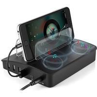 Universal 4-Port Docking Station & Bluetooth-højtaler