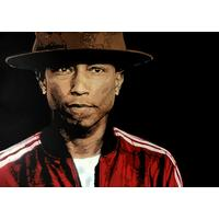 Displate of original painting of Pharrell Williams by Gary Cairns of S