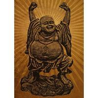Displate Happy Buddha 32x45cm Affisch