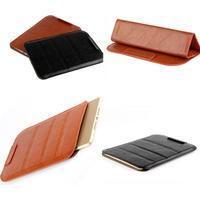 Cover - Foldbar læder sleeve - til Kindle8, Paperwhite & Voyage
