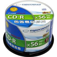 Esperanza CD-R Silver 700MB 56x Spindle 50-Pack