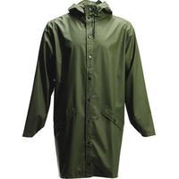 Rains Long Rain Jacket Green
