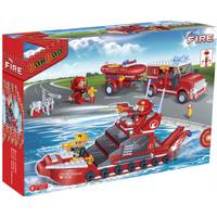 Banbao Fire Car & Ship Set 8312