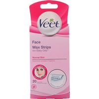 Veet Wax Strips for Face 20-pack